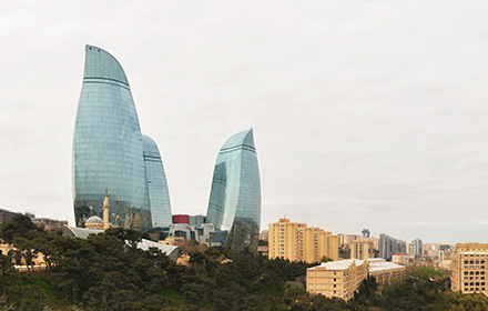 Flame Towers, Dagustu Park, Baku - Visite virtuelle