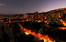 Downtown at night, La Paz - Virtual tour