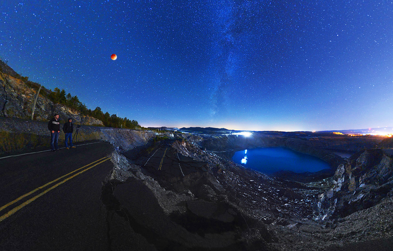 Route 112, Eclipse totale - Panorama 360°