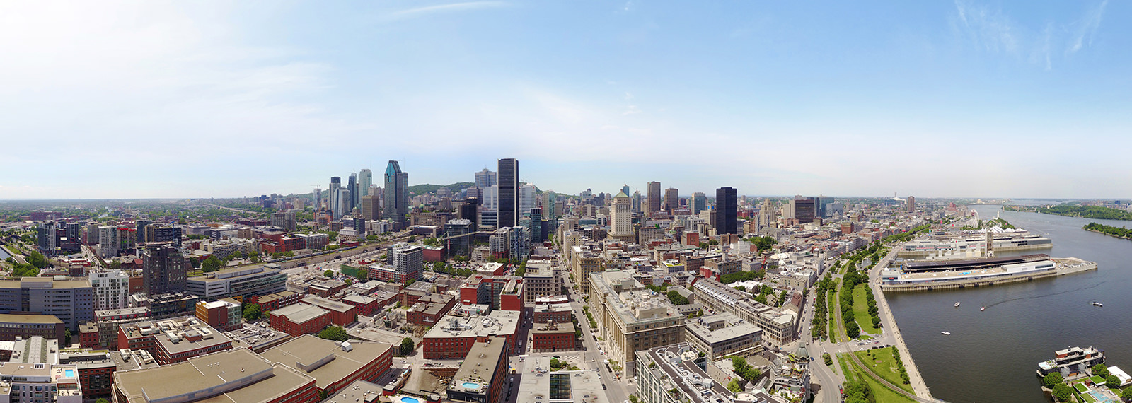 Montreal Vieux-Port, Downtown, Quebec - Panorama 360°