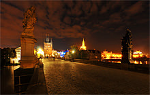 Karluv most at night, Praha - Virtual tour