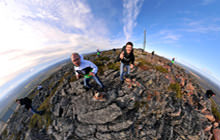 Levi mountain summit, Lapland - Visite virtuelle