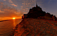 Mont-St-Michel sunset, Basse-Normandie - Virtual tour