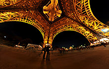 Under Eiffel Tower, Champ-de-Mars, Paris - Panorama 360°