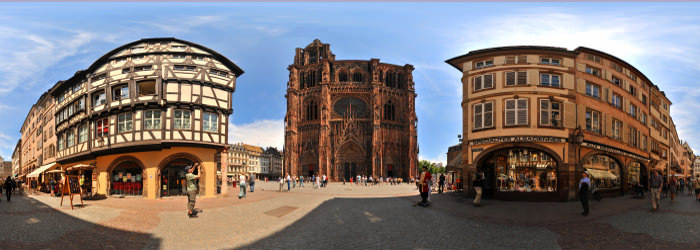 Cathedrale Notre-Dame, Strasbourg, Alsace - Panorama 360°