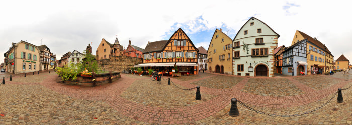 Place du Chateau, Eguisheim, Alsace - Virtual tour