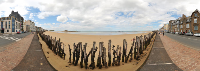 Plage du Sillon, Saint-Malo - Virtual tour