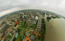 Rheinturm - Rhine Tower, Dusseldorf - Virtual tour