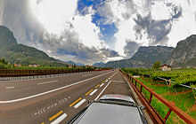 On the road near Trento, Alto Adige, South Tyro - Virtual tour