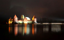 Castle of Trakai at night, Trakai - Panorama 360°