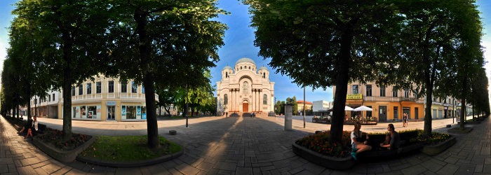 Garrison Church, Liberty Avenue, Kaunas - Panorama 360°