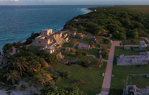 Tulum ruins at Sunset, Riviera Maya, Mexico - Virtual tour