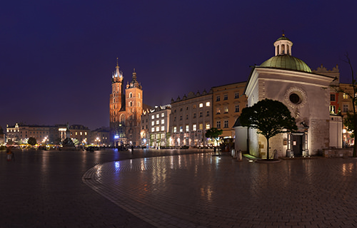 Krakow Old town, Main Square - Panorama 360°