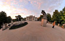 Palace on the water, Lazienki Park, Warsaw - Panorama 360°