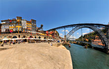 Dom Luis Bridge, Douro River, Porto - Virtual tour