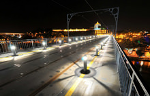 Douro River at night, Dom Luis Bridge, Porto - Virtual tour