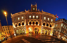 Rossio Train Station, Neo-Manueline, Lisbon - Virtual tour