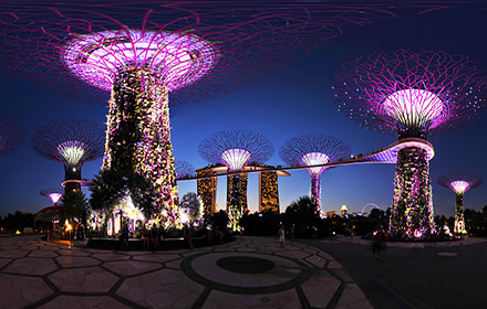 Supertree Grove at night, Gardens by the Bay - Virtual tour