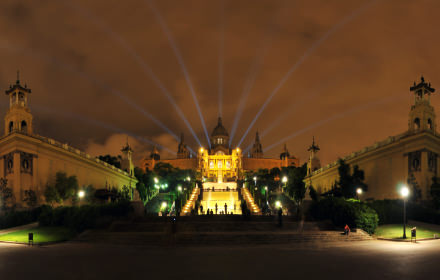 Palau Nacional Night, Montjuic, Barcelona - Virtual tour