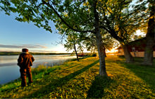 Morning at the lake, Wakefield, Michigan - Virtual tour