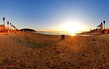 Sunset at the beach, Piriapolis - Virtual tour